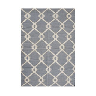 Handmade Alliyah Blue/ Grey New Zealand Wool Blend Rug (9' x 12')