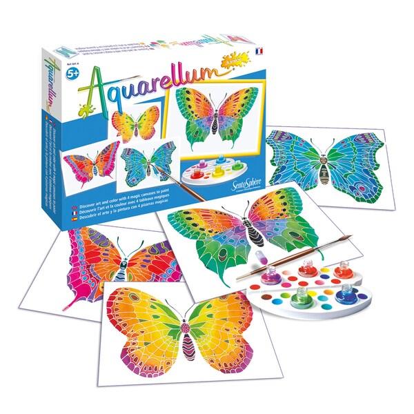Aquarellum Junior Butterflies Art Canvas