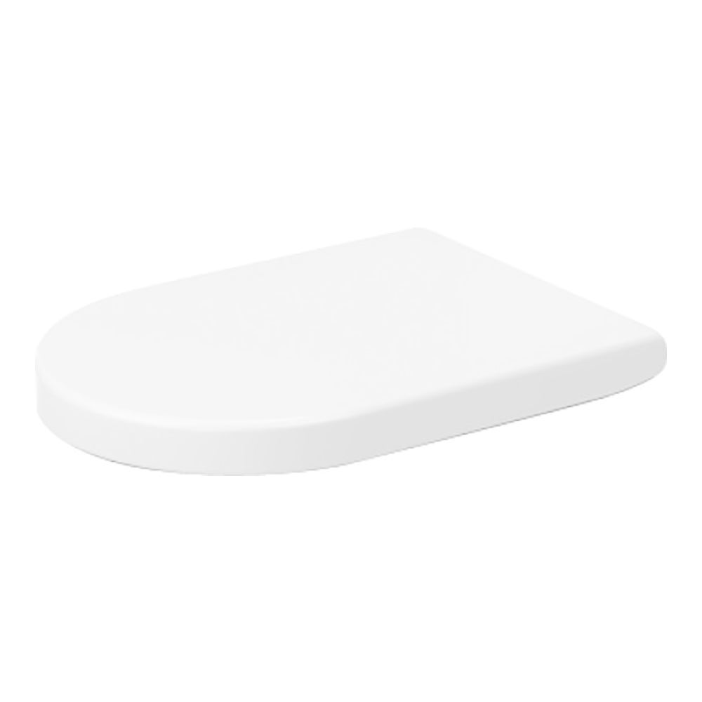 Duravit White Elongated Toilet Seat and Cover with Stainl...