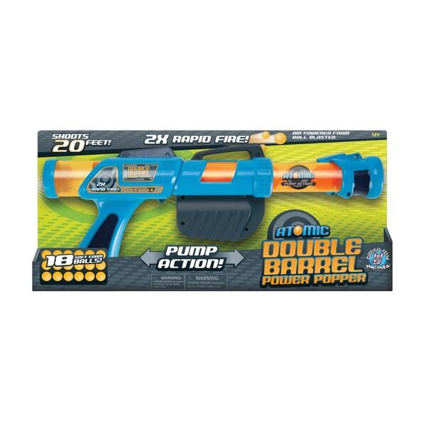 Atomic Double Barrel Power Popper Soft Ball Gun