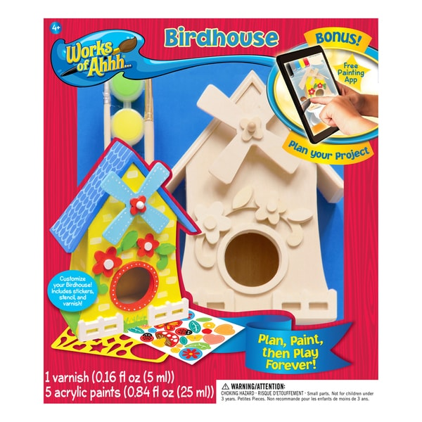 Works of Ahhh... Birdhouse Wood Painting Kit