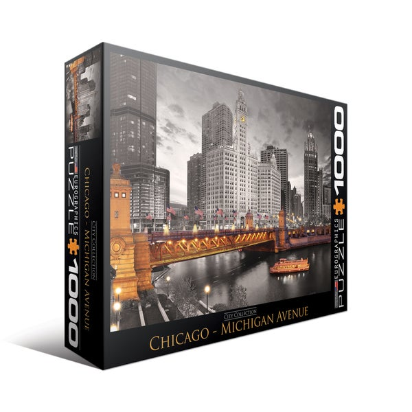 City Collection Chicago Michigan Avenue 1000-piece Puzzle