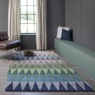 Cosmopolitan Multi Stripe Hand-tufted Wool Rug (5' x 8')