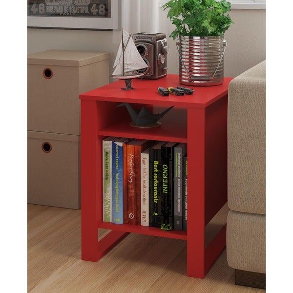 Shop Ameriwood Home Reese Ruby Red Accent Table Free