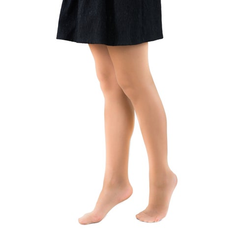 Coquettes Silky Opaque Light Control Top Pantyhose with Reinforced Toe
