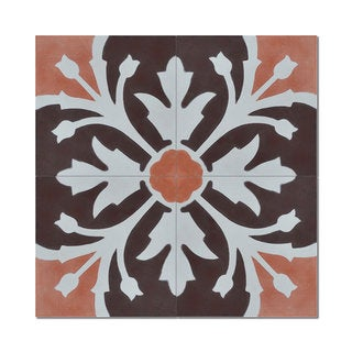Marjana Brown Handmade Moroccan 8 x 8 inch Cement and Granite Floor or Wall Tile (Case of 12)