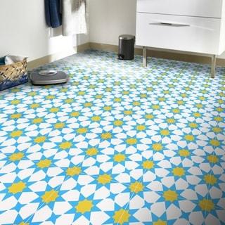 """Handmade Medina in Blue Tile, Pack of 12 - 8"""" x 8"""" (Morocco)"""