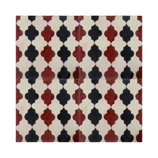 Pack of 12 Tafrout Black and Brown Handmade Cement and Granite 8-inch x 8-inch Floor and Wall Tile (Morocco)