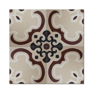 Sevia Brown Handmade Moroccan 8 x 8 inch Cement and Granite Floor or Wall Tile (Case of 12)