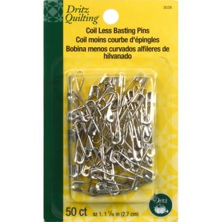 Coil-Less Curved Safety Pins-Size 1 50/Pkg