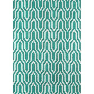 Paolo Green Hand-hooked Rug (5' x 7')