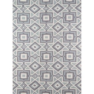 Seville Grey Hand-hooked Rug (5' x 7')