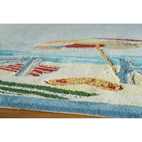 Momeni Coastal Hand-Hooked Cotton Rug - 5' x 8'