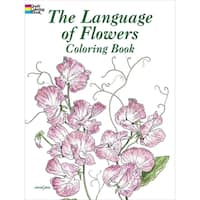 Dover Publications-The Language Of Flowers Coloring Book