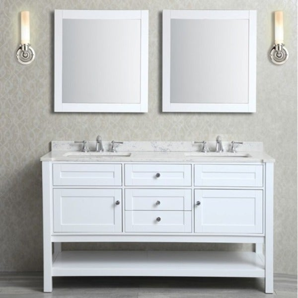 Mayfield 60-inch Double-sink Bathroom Vanity Set - Free Shipping ...