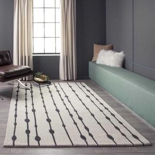 """Cosmopolitan Vines Grey Hand-tufted Wool Rug (3'6"""" x 5'6"""")"""