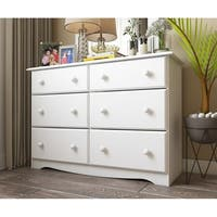 Palace Imports Solid Wood 6-Drawer Double Dresser