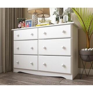 Palace Imports Solid Pine Wood 6-drawer Double Dresser