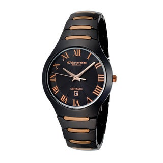 Cirros Milan Empire Series Black Copper Trim Ceramic Watch