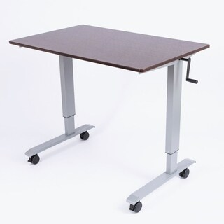 Luxor Standup-CF48-DW 48-inch Crank Adjustable Stand-Up Desk - Silver