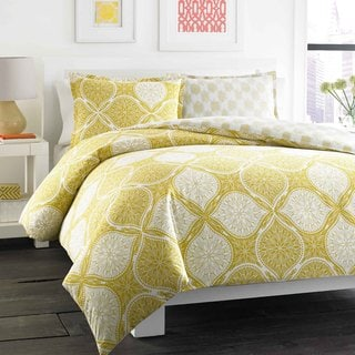 City Scene Wonderlust Reversible 3-piece Duvet Cover Set