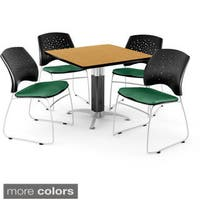 OFM Square Oak Laminate Multi-purpose Table With 4 Chairs