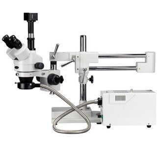 3.5X-90X Simul-Focal Trinocular Boom Microscopy System with 1.3MP Digital Camera