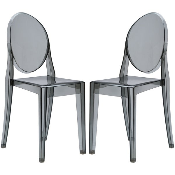 Poly And Bark Burton Side Chair In Smoke (Set Of 2)