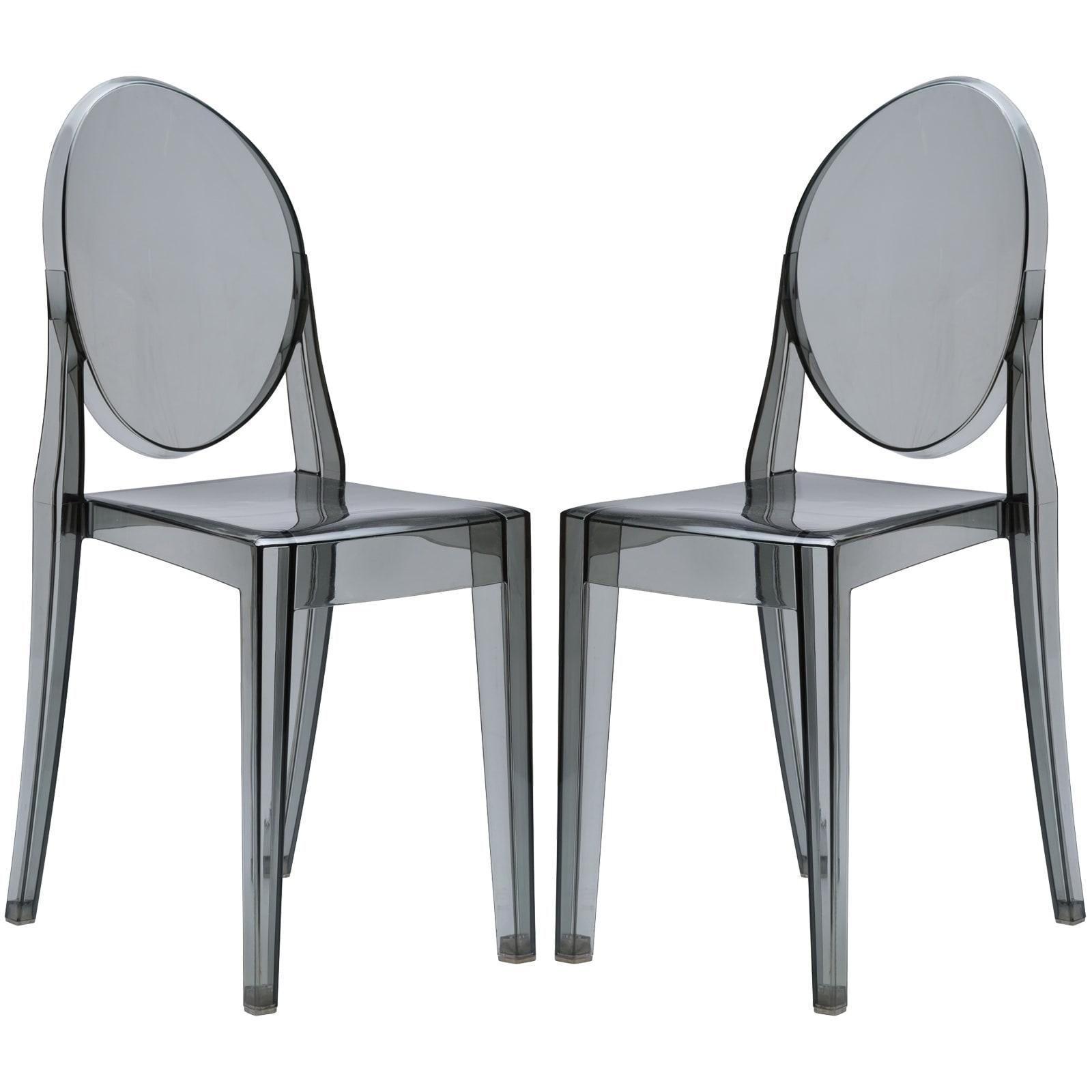Poly and Bark Burton Side Chair In Smoke (Set of 2) (Smok...