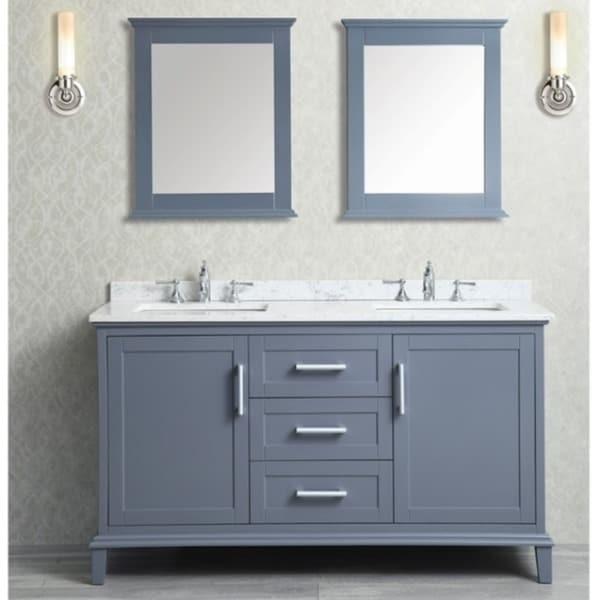Bathroom Vanities Double Sink 60 Inches nantucket 60-inch double-sink bathroom vanity set - free shipping
