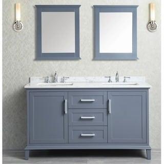 Nantucket 60-inch Double-sink Bathroom Vanity Set