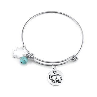 Shine 'Elephant' Stainless Steel Expandable Bangle