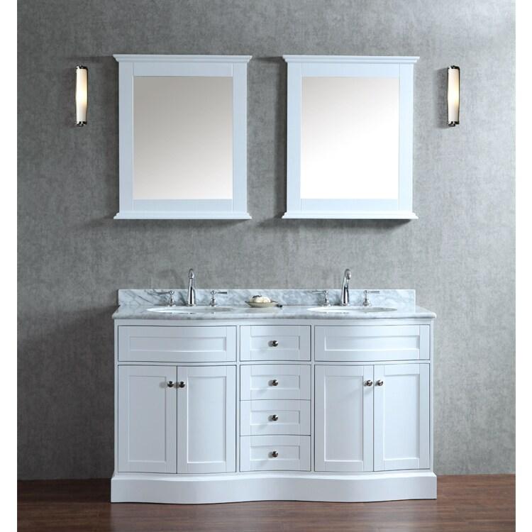 Montauk 60 Inch Double Sink Bathroom Vanity Set Overstock 9658680