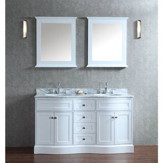 Montauk 60 Inch Double Sink Bathroom Vanity Set