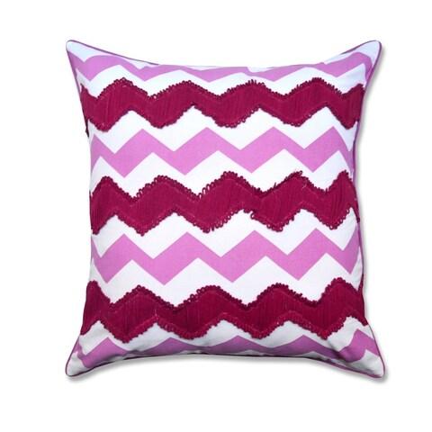 Embroidered Chevron Decorative Throw Pillow