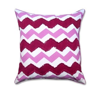 Embroidered Chevron Decorative Throw Pillow