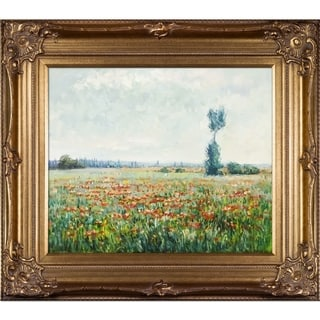 Claude Monet The Fields of Poppies Hand Painted Framed Canvas Art
