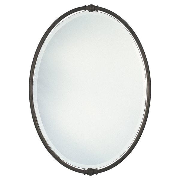 Shop oil rubbed bronze boulevard oval mirror free Oval bathroom mirrors oil rubbed bronze