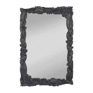 Hi Gloss Black Wall Mirror