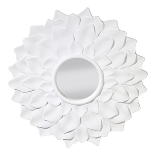Hi Gloss White Decorative Mirror