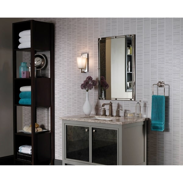 Brushed Steel Mirror - Glass/Clear - A/N