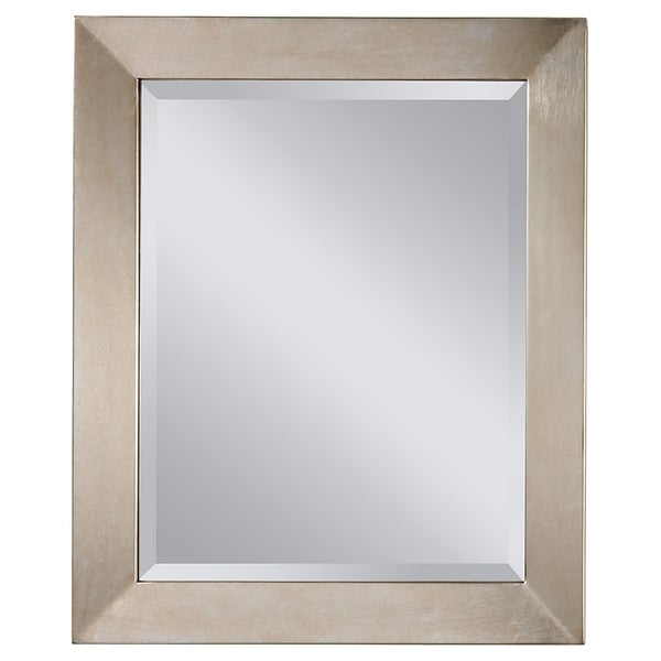 Shop Silver Leaf Wall Mirror Free Shipping Today 9658865