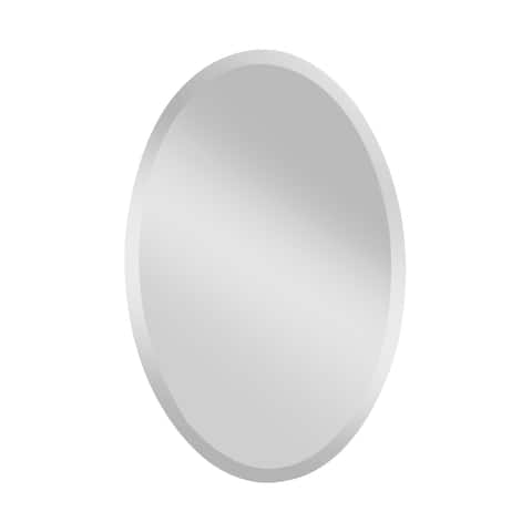 Oval Wall Mirror - Glass/Clear - A/N