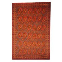 Herat Oriental Semi-antique Afghan Hand-knotted Tribal Balouchi Blue/ Rust Wool Rug (6'10 x 10'6)