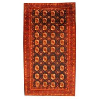 Herat Oriental Semi-antique Afghan Hand-knotted Tribal Balouchi Blue/ Rust Wool Rug (5'9 x 10'4)