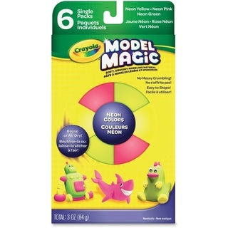 Crayola Model Magic Set 6/Pkg-Neon Colors