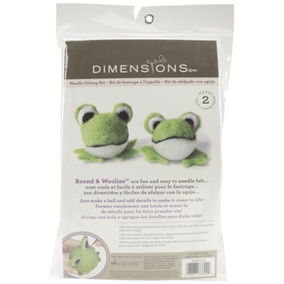 Feltworks Ball Frogs Learn Needle Felting Kit