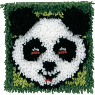 "Wonderart Latch Hook Kit 8""X8""-Panda"