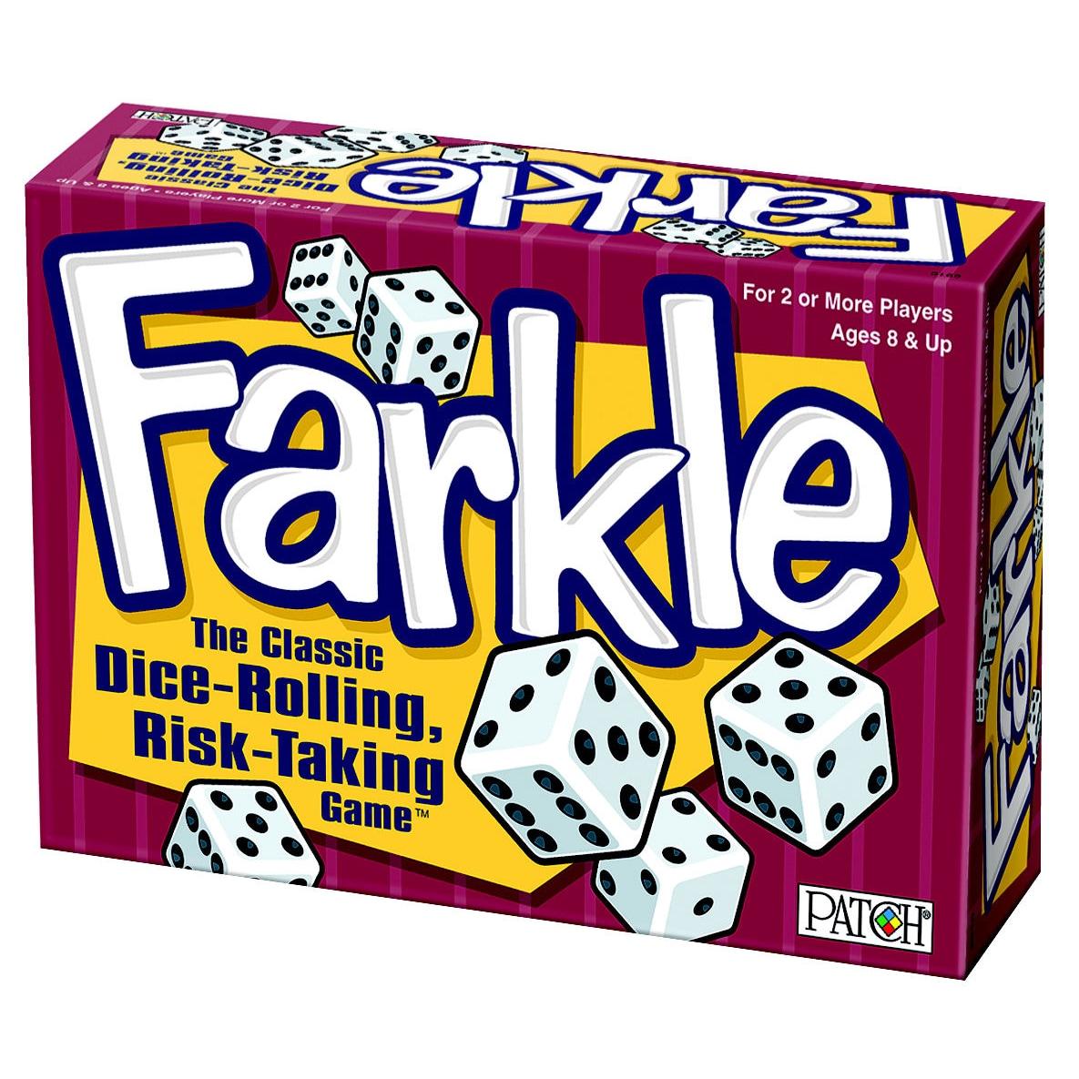 Patch Products Farkle Game Box-Farkle (Farkle), White
