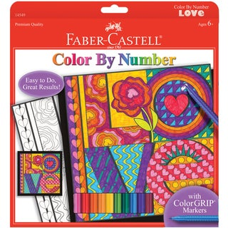 "Color By Number Kit 9""X9""-LOVE"
